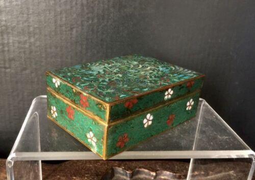 Ming Dynasty Zhengde period Chinese retangular cloisonne jewelry vessel bronze
