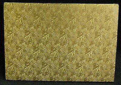 Rectangular Gold Foil Cake Board, 1/4