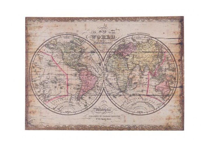 Large canvas world map picture vintage style antique inspired large canvas world map picture vintage style antique inspired distressed look gumiabroncs Choice Image