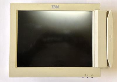 """IBM 12"""" POS MONITOR TFT DISPLAY IBM 4820-48T + Magnetstreifenleser"""