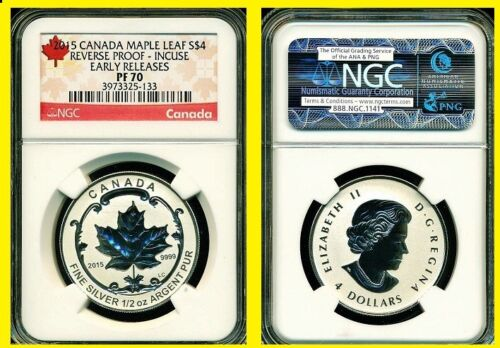 2015 Silver Canadian Maple NGC RV PF 70 UC EARLY RELEASE $4 COIN