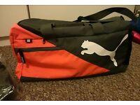 PUMA bag ORANGE RED travel gym backpack luggage original with tags for him her GIFT CHRISTMAS