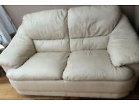 Real leather sofa (can deliver)