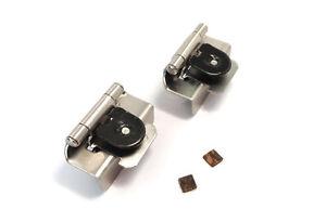1 2 Double Demountable Satin Nickel Cabinet Door Hinge Pair 8704 G10 Am
