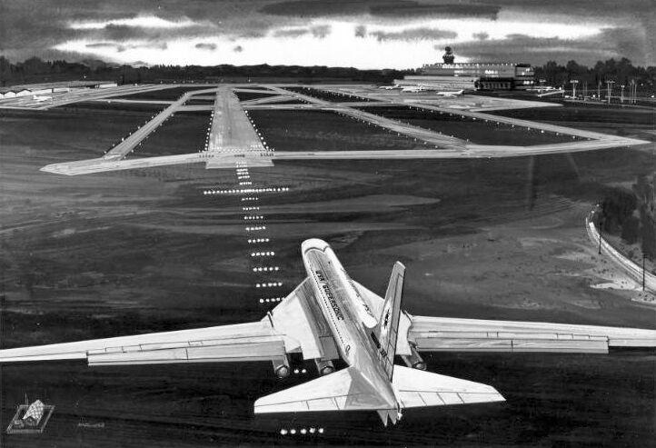 "Boeing Model 2707-300 SST ((8.5""x11"")) Print"