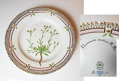 Royal Copenhagen FLORA DANICA #3551 Dessert Plate, 1st Quality w/tiny flake
