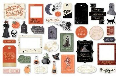 Fall Scrapbook Paper (40 Spellcast Happy Halloween fall party decor scrapbook paper die)