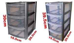 silver-Tower-Unit-Storage-Organizer-3-4-Drawer-Office-School-Garage-Draws