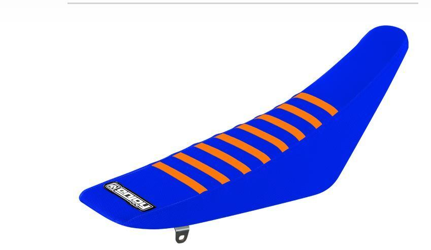 Ribbed Gripper Seat Cover to fit KTM SX SXF 2011-2015 EXC 2012-2016 Blue TLD