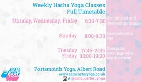 Hatha Yoga Classes in the heart of Southsea