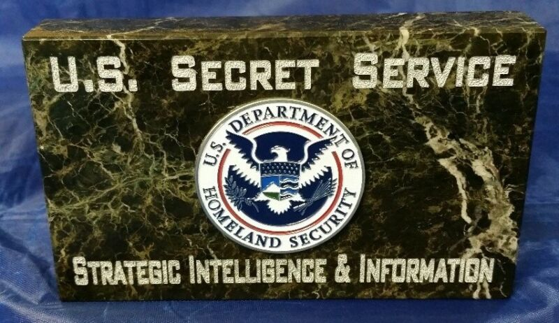 USSS Strategic Intelligence & Information JADE MARBLE w Full Color Emblem