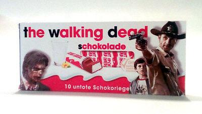 """3x Aufkleber """"The walking Dead"""" für Kinderschokolade. Gadget, Geburtstag"""