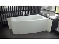 OFFSET CORNER BATH *LUNA* 150 X 80CM *RIGHT HAND* FRONT PANEL AND LEGS INCLUDED 10 YEARS WARRANTY