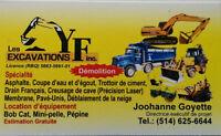 Démolition Intérieur Exterieur Excavation  Égout Drain Asphalte