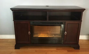 Ashley tv stand fireplace