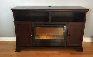 Ashley tv stand fireplace