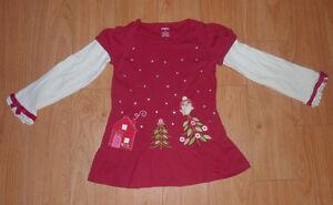 Gymboree Holiday winter shirt, plush coat, size 5T, $ 5 ea Kitchener / Waterloo Kitchener Area image 1