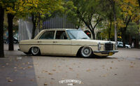 1975 Mercedes Benz 240D Diesel on BBS RS and Air Suspension