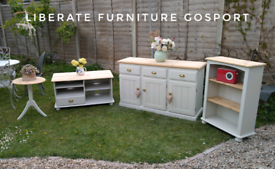 Lovely set of newly upcycled living room furniture