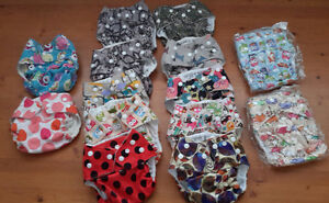 Kawaii Cloth diapers-girl prints Belleville Belleville Area image 1