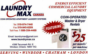 Coin-operated washer and dryer rentals