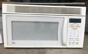 LG Microwave above the stove