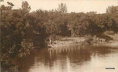 1908 Walhalla North Dakota Pembina County Waterfont Real Photo Rppc 5253