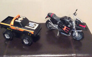 Harley Davidson Monster Truck and Transformer Motorcycle