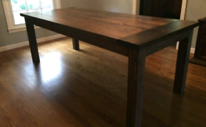 Rustic country kitchen tables