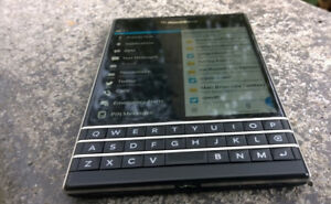 64GB BLACKBERRY PASSPORT+Accessories+ANDROID APPS- CALL/TEXT NOW