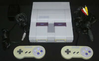 Super Nintendo, 2 Controllers, Power & AV Cables & 5 Games