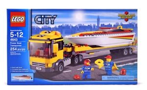 Lego City power boat transporter for sale brand new in box