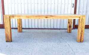 Reclaimed, contemporary, harvest table