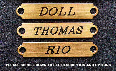 "BRIDLE PLATE BROW XXSM SADDLE Solid Brass Custom Engraved 2"" x 3/8"" Name Plates"