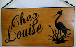 Custom hand carved personalized wood sign Peterborough Peterborough Area image 3