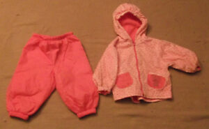 Girl's 2-piece Spring/Fall Jacket & Pants Size 18 months