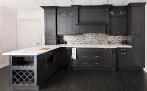 step shaker Charcoal Grey wooden kitchen on SALE!!