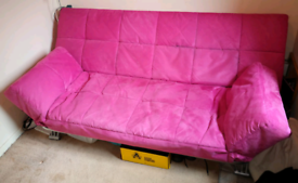 Faux suede sofa bed