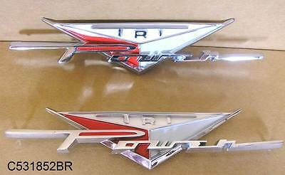 1958 Pontiac All Fender Tri Power emblem Pair C531852BRS