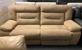 Harvey's Kinman fabric manual recliner 3 seater sofa