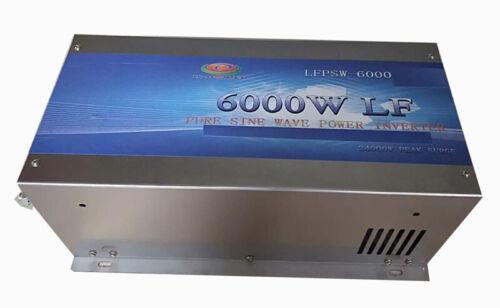 6000W LF Split Phase 12V DC/110V,220V AC 60Hz Pure Sine Wave Power Inverter