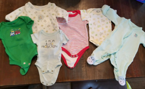 Newborn baby boy sleeper lot