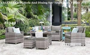 ifurniture Warehouse Sale -- VALENCIA 6 PC Patio Sofa And Dining Set *Aluminum Frame--Free Delivery in Edmonton