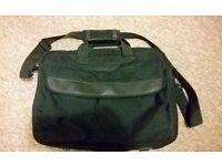 Plain black laptop bag