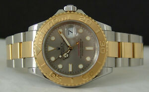 Rolex Yachtmaster Silver Dial Gold & Steel 40mm 16623
