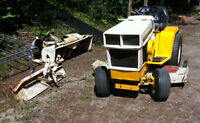 Ride on Mower with 3 other attachments