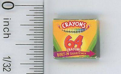 Dollhouse Miniature Box of Crayons by Cindi's Mini's