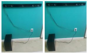 2 x Samsung Surround Sound Plus Sub Woofer