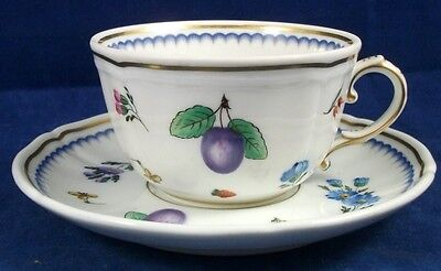 Richard Ginori ITALIAN FRUITS Cup & Saucer Set Antico Doccia Shape on Rummage