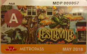 TTC METRO PASS FOR SALE  ONLY FOR $ 135